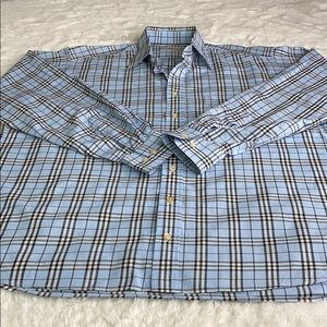 Burberry Long Sleeve Nova Check Button Down Shirt